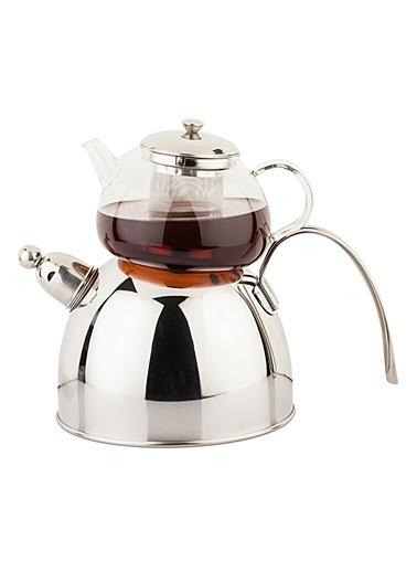 S S Paslanmaz Çelik Düdüklü Çaydanlık Takımı-Tantitoni
